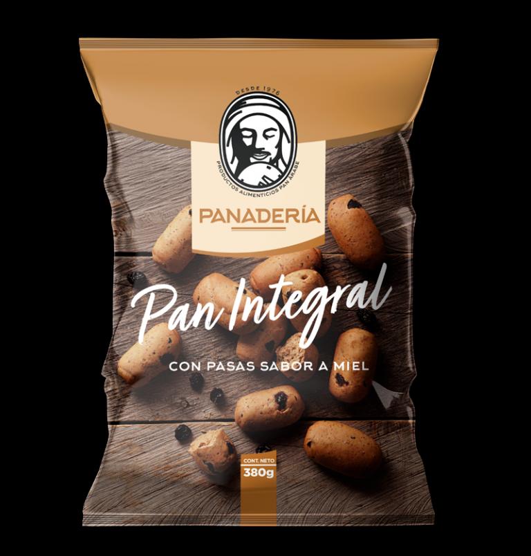 Pan Integral con Pasas sabor a Miel